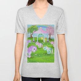 g1 my little pony stylized Collector ponies Unisex V-Neck