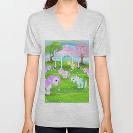 g1 my little pony stylized Collector ponies Unisex V-Neck
