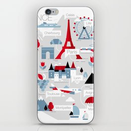 France Map iPhone Skin