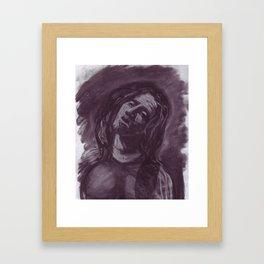 John Frusciante in charcoal. Framed Art Print