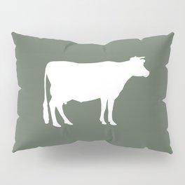 Cow: Green Pillow Sham