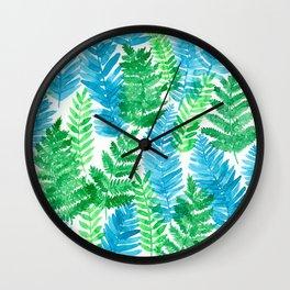 Fern watercolor Wall Clock
