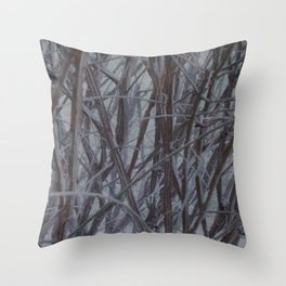 Branches and Lines Throw Pillow