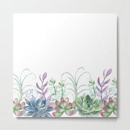 Succulents in The Garden Metal Print