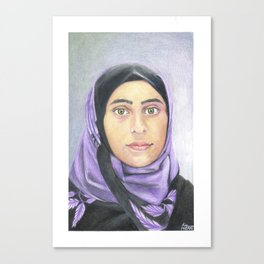 Ayat (Syrian Refugee) Canvas Print