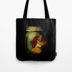 Lost Without You  (Lady In A Jar) Grunge  Tote Bag