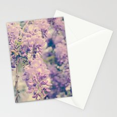 No. 7 Wisteria Lane -- Spring Botanical -- Purple Showers of Flowers Stationery Cards