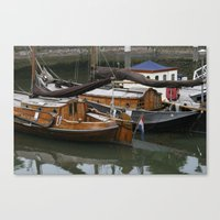 boats Canvas Prints featuring Boats by constarlation