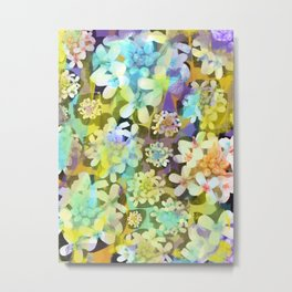 White Blooms from the Forest Floor Metal Print