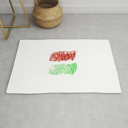 flag of hungary - chalk version Rug