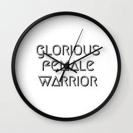 Glorious Female Warrior Wall Clock