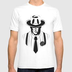 the gangster way Mens Fitted Tee MEDIUM White