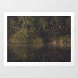 autumn refections Art Print
