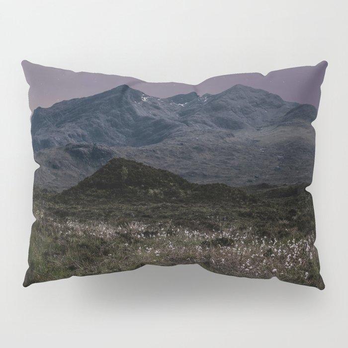Mountains of Scotland at evening Pillow Sham