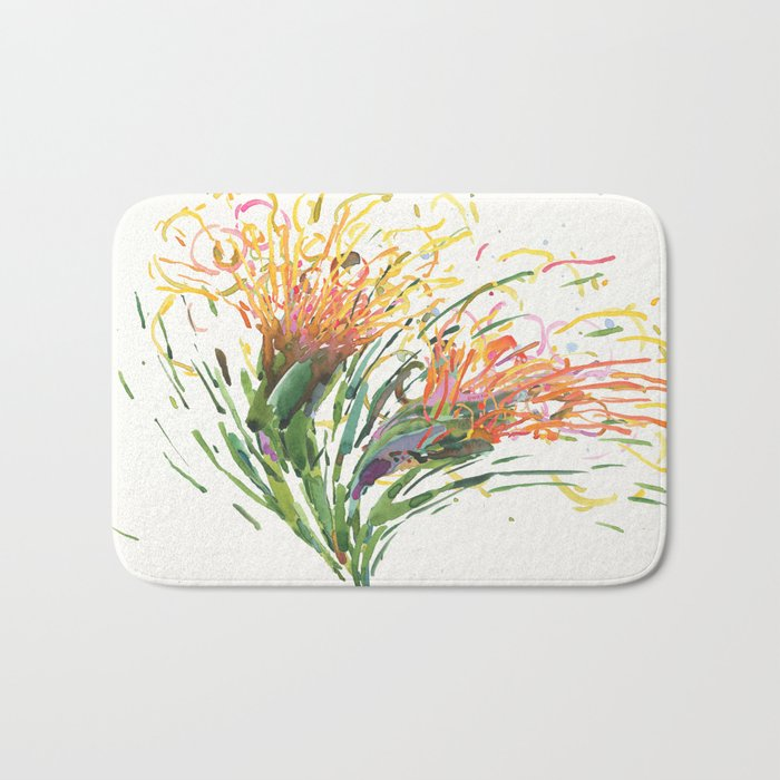 Flower Symphony-Cactus Bloom Bath Mat