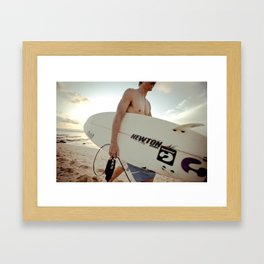Stoked Framed Art Print