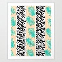 Palm Leaf Abstract Art Print