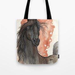 Black horse Tote Bag