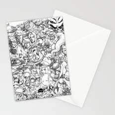 Naruto characters doodle Stationery Cards