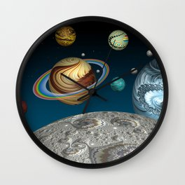 To The Moon And Beyond Wall Clock