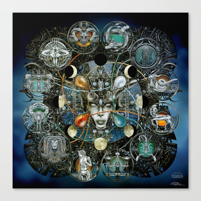 """Astrological Mechanism - Zodiac"" Canvas Print"