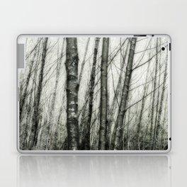 Alders i - Impressionistic Tree Trunks Laptop & iPad Skin