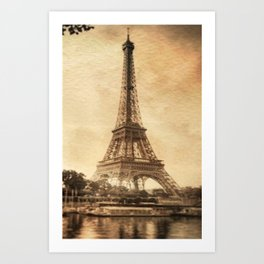 Vintage Eiffel Tower 2 Art Print
