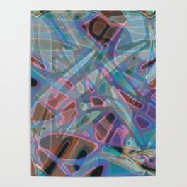 Colorful Abstract Stained Glass G302 Poster