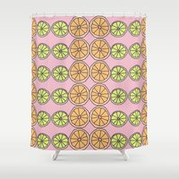 fruit Shower Curtains featuring Fruit by Sarah Kennedy