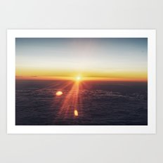 Sunset in the sky Art Print