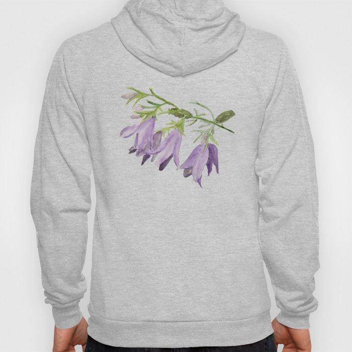 Purple bell flowers Hoody