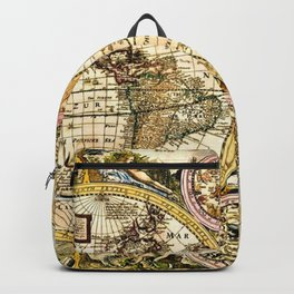 Gorgeous Old World Map Art from 15th Century Backpack