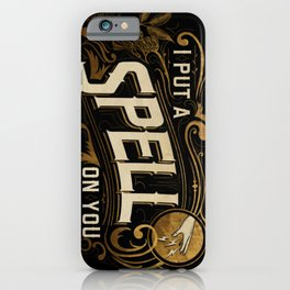 I put a spell on you - vintage letters iPhone Case