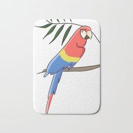 Tropical parrot Bath Mat