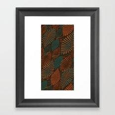 ORGANIC LEAVES Framed Art Print