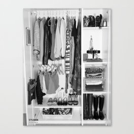 Black and White Closet  Canvas Print