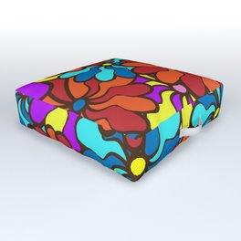floral background. field of multi colored bright summer colors for the background Outdoor Floor Cushion