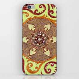 Suzani With Vintage Brooch iPhone Skin