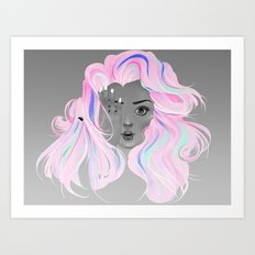 Neon Illusion Art Print
