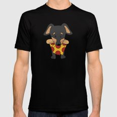 Paco Love Pizza SMALL Mens Fitted Tee Black