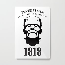 A Century of Horror Classics :: Frankenstein; Or, The Modern Prometheus Metal Print
