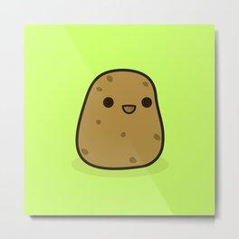 Cute potato Metal Print