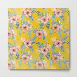 Honolua Tropical Yellow Metal Print