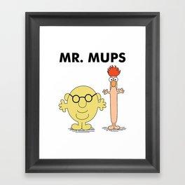 Mr Mups Framed Art Print