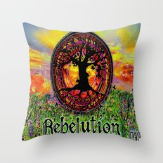 Rebelution Tree of Life Bright Side of Life Beautiful Sunrise/Sunset Landscape Throw Pillow