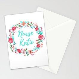 Nurse Katie - Floral Wreath - Watercolor Stationery Cards