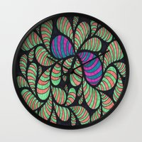 bugs Wall Clocks featuring Bugs by Sarah J Bierman