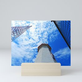 North Cape Lighthouse and Communication Tower Mini Art Print