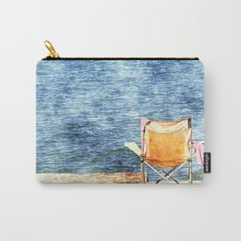 Summer holiday relaxing in the sun, digital art watercolor Carry-All Pouch