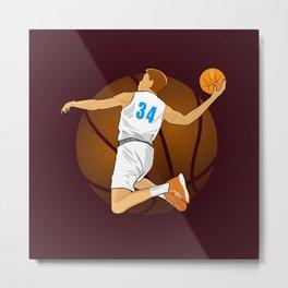 Basketball Player II Metal Print